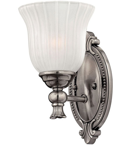 Hinkley 5580PL Francoise 1 Light 7 inch Polished Antique Nickel Bath Sconce Wall Light photo