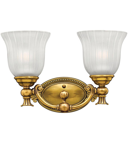 Hinkley 5582BB Francoise 2 Light 15 inch Burnished Brass Bath Light Wall Light photo