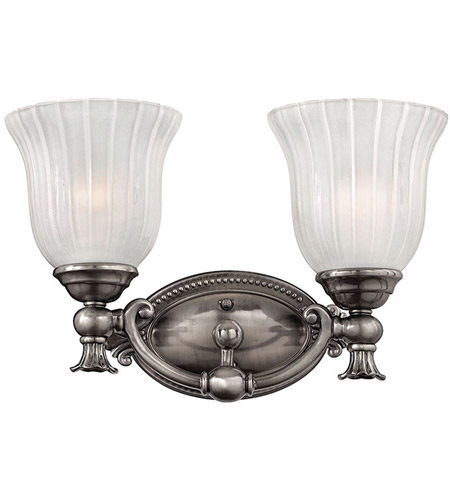 Hinkley 5582PL Francoise 2 Light 15 inch Polished Antique Nickel Bath Light Wall Light photo