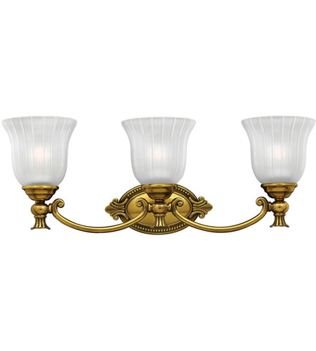 Hinkley 5583BB Francoise 3 Light 25 inch Burnished Brass Bath Light Wall Light photo