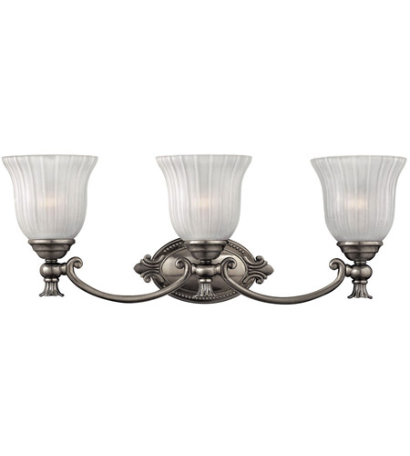 Hinkley 5583PL Francoise 3 Light 25 inch Polished Antique Nickel Bath Light Wall Light photo