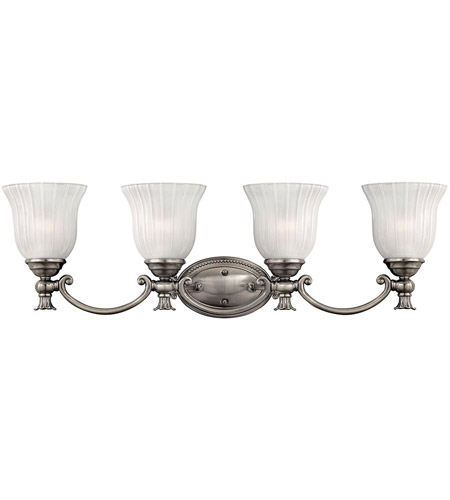 Hinkley 5584PL Francoise 4 Light 31 inch Polished Antique Nickel Bath Light Wall Light photo