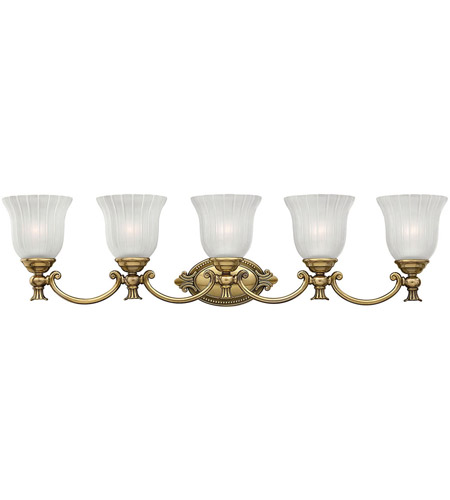 Hinkley 5585BB Francoise 5 Light 37 inch Burnished Brass Bath Light Wall Light photo
