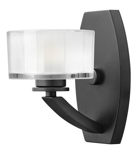 Hinkley Lighting Meridian 1 Light Bath Vanity in Satin Black 5590SK