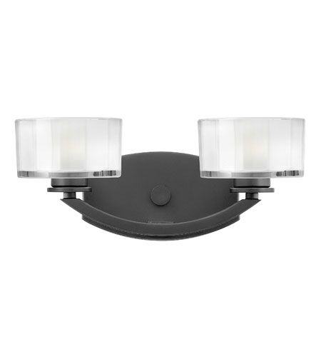 Hinkley Lighting Meridian 2 Light Bath Vanity in Satin Black 5592SK