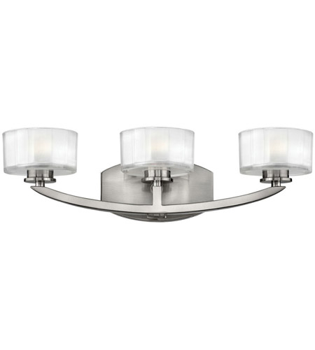 Hinkley Lighting Meridian 3 Light Bath Vanity in Brushed Nickel 5593BN photo