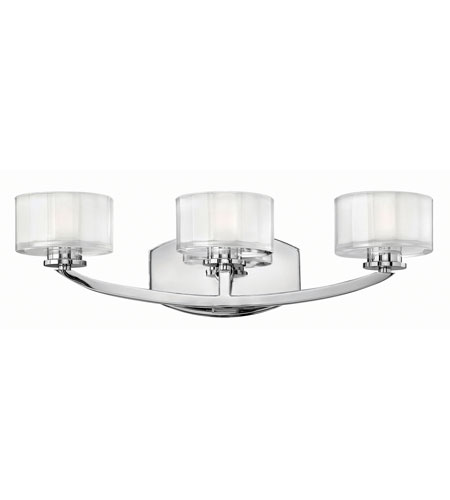 Hinkley Lighting Meridian 3 Light Bath in Chrome 5593CM-LED2