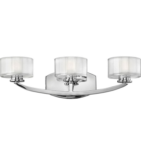 Hinkley Lighting Meridian 3 Light Bath Vanity in Chrome 5593CM photo