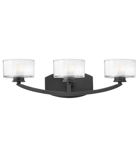 Hinkley Lighting Meridian 3 Light Bath Vanity in Satin Black 5593SK