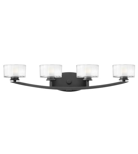 Hinkley Lighting Meridian 4 Light Bath Vanity in Satin Black 5594SK photo