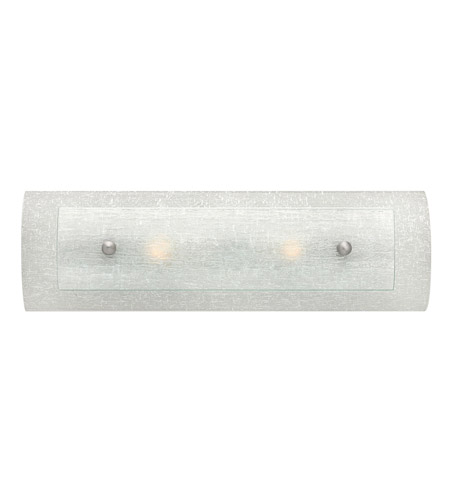 Hinkley 5612BN Duet 2 Light 18 inch Brushed Nickel Bath Vanity Wall Light, Clear Rain Glass photo