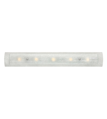 Hinkley 5615bn Led Duet 5 Light 36 Inch Brushed Nickel Bath Vanity Wall Light In Etched Linen