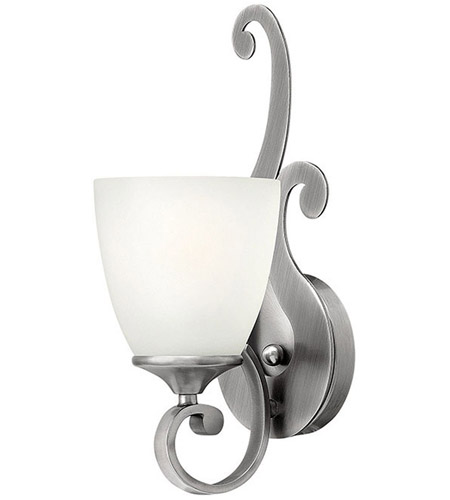 Hinkley 56320AN Reese 1 Light 5 inch Antique Nickel Bath Sconce Wall Light, Etched Opal Glass photo