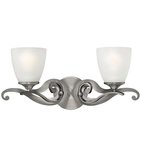 Hinkley 56322AN Reese 2 Light 21 inch Antique Nickel Bath Wall Light, Etched Opal Glass photo