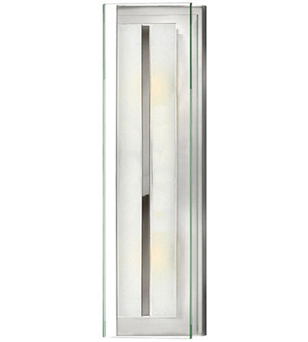 Hinkley 5651CM Latitude 2 Light 6 inch Chrome Bath Sconce Wall Light, Clear Beveled Inside-Etched Glass photo