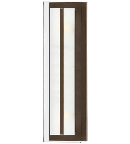 Hinkley 5651OZ Latitude 2 Light 6 inch Oil Rubbed Bronze Bath Sconce Wall Light, Clear Beveled Inside-Etched Glass photo