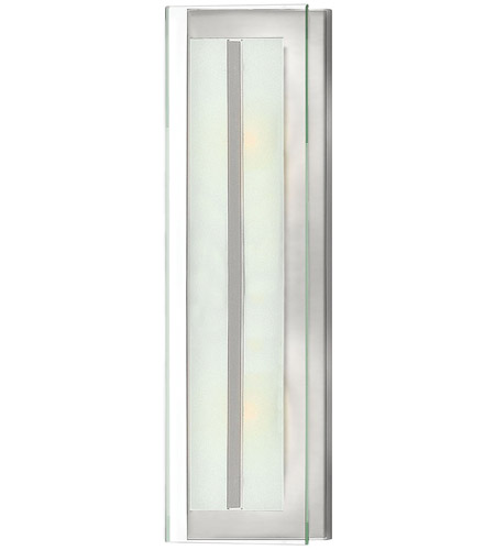 Hinkley 5651BN Latitude 2 Light 6 inch Brushed Nickel Sconce Wall Light, Clear Beveled Inside-Etched Glass photo
