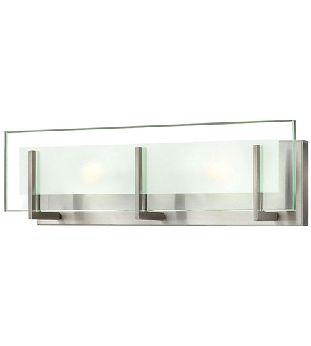hinkley bathroom lighting hinkley 5652bn latitude 2 light 18 inch brushed nickel 13138