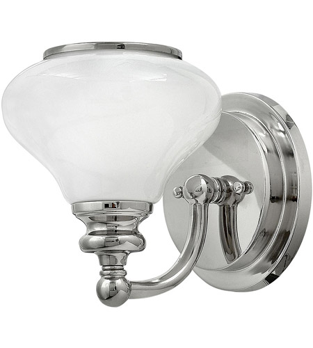Hinkley PN Ainsley Light Inch Polished Nickel Bath Sconce - Polished nickel bathroom sconces