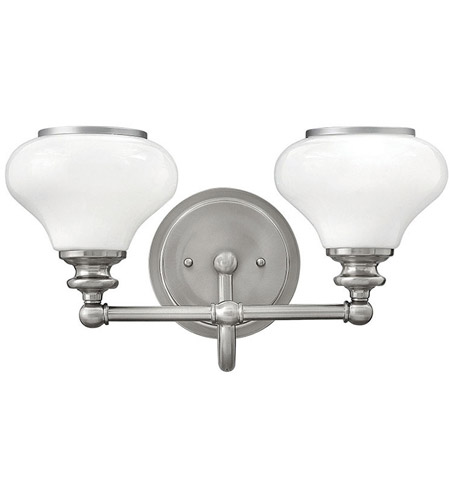 hinkley bathroom lighting hinkley 56552bn ainsley 2 light 16 inch brushed nickel 13138