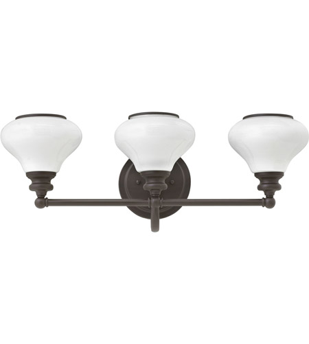 Hinkley 56553KZ Ainsley 3 Light 24 inch Buckeye Bronze Bath Light Wall Light, Cased Opal Glass photo