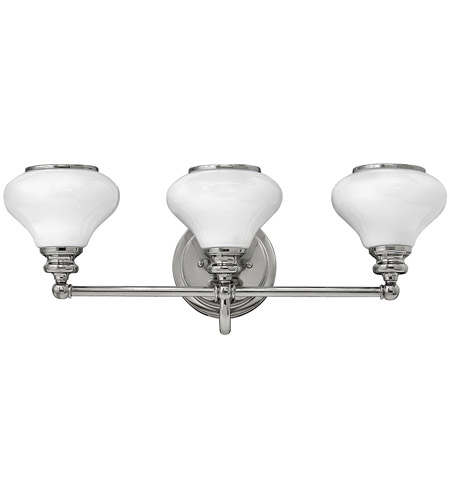 Hinkley 56553PN Ainsley 3 Light 24 inch Polished Nickel Bath Light Wall Light photo