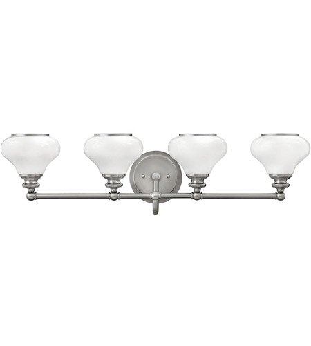 Hinkley 56554BN Ainsley 4 Light 33 inch Brushed Nickel Bath Light Wall Light, Cased Opal Glass photo