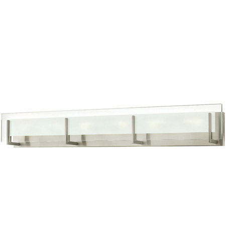 Bathroom Lighting Fixtures Brushed Nickel hinkley 5656bn latitude 6 light 38 inch brushed nickel bath light