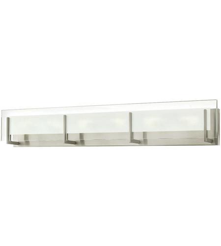 Bathroom Lighting Fixtures Brushed Nickel hinkley 5656bn latitude 6 light 38 inch brushed nickel bath light