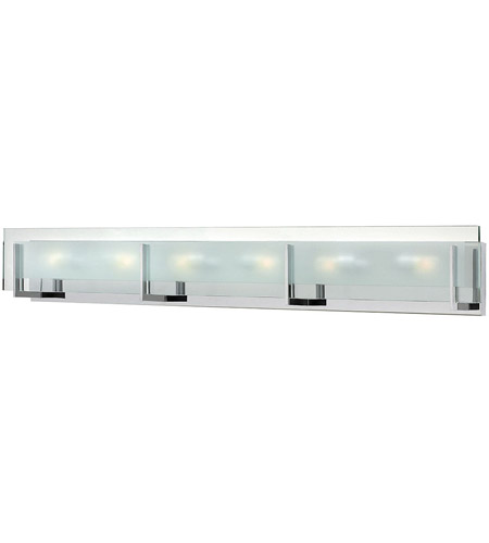Hinkley 5656CM Latitude 6 Light 38 inch Chrome Bath Wall Light in G9 photo