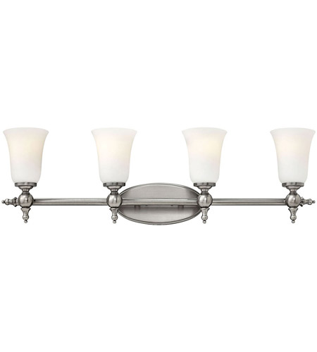 Hinkley Lighting Yorktown 4 Light Bath in Antique Nickel 5744AN