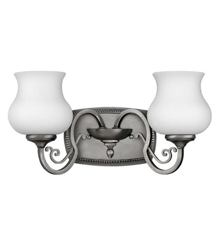 Hinkley Lighting Olivia 2 Light Bath Vanity in Antique Nickel 5752AN