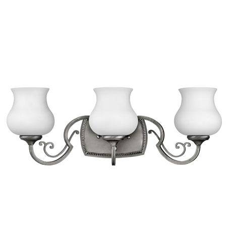 Hinkley Lighting Olivia 3 Light Bath Vanity in Antique Nickel 5753AN