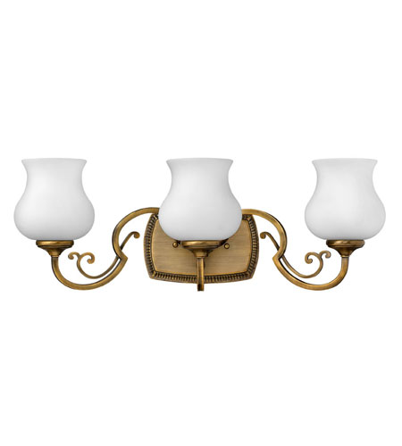 Hinkley lighting olivia 3 light bath vanity in brushed - Brushed bronze bathroom light fixtures ...