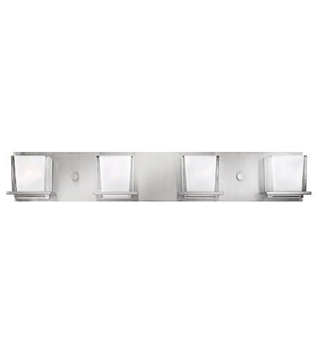 Hinkley 5774bn lola 4 light 32 inch brushed nickel bath for Hinkley bathroom vanity lighting