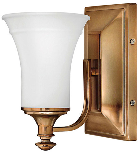 Hinkley 5830br alice 1 light 5 inch brushed bronze bath for Hinkley bathroom vanity lighting
