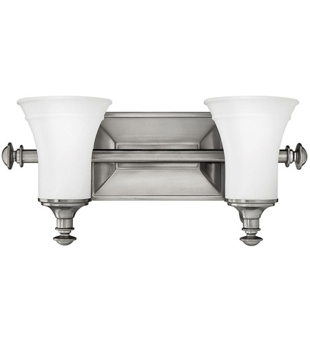 Hinkley Lighting Alice 2 Light Bath Vanity in Antique Nickel 5832AN