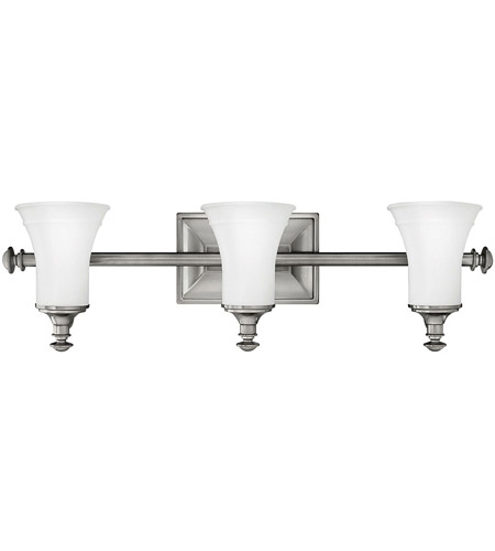 Hinkley Lighting Alice 3 Light Bath Vanity in Antique Nickel 5833AN