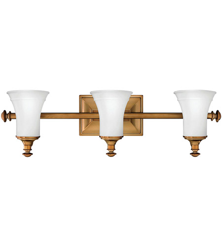 Hinkley 5833BR Alice 3 Light 27 inch Brushed Bronze Bath Light Wall Light photo