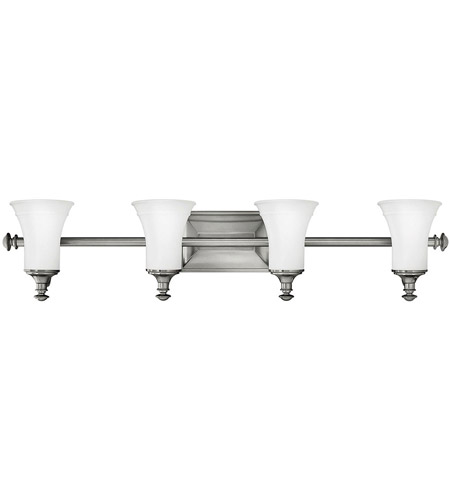 Hinkley Lighting Alice 4 Light Bath Vanity in Antique Nickel 5834AN