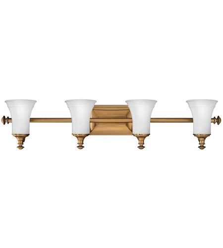 Hinkley 5834br alice 4 light 37 inch brushed bronze bath - Brushed bronze bathroom light fixtures ...
