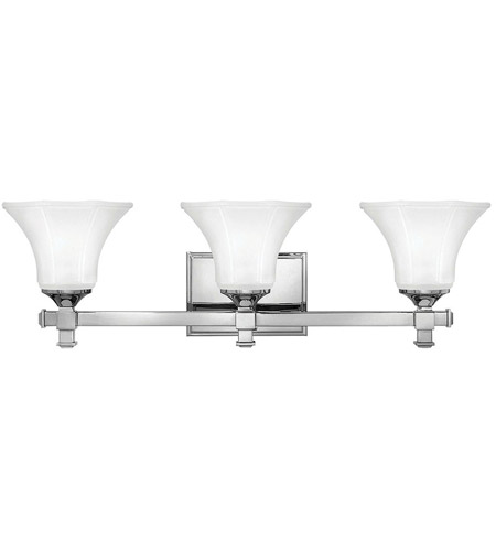 Hinkley 5853CM Abbie 3 Light 25 inch Chrome Bath Light Wall Light photo
