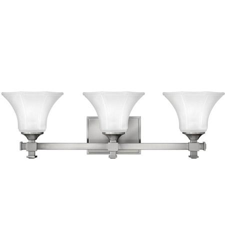 6-Light Vanity Light Bathroom Fixture Brushed Nickel Etched Glass Shades