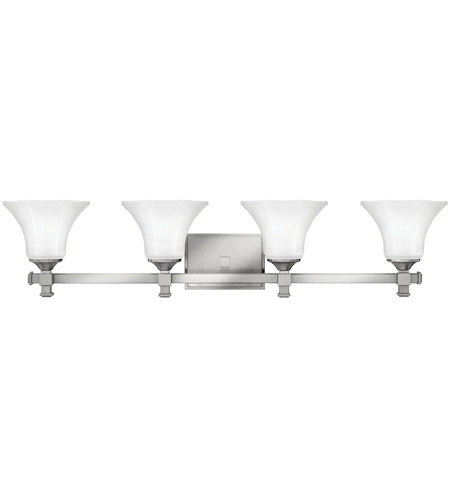 Hinkley Lighting Abbie 4 Light Bath Vanity in Brushed Nickel 5854BN
