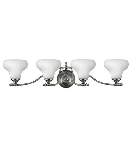 Hinkley Lighting Addison 4 Light Bath Vanity in Polished Antique Nickel 5864PL