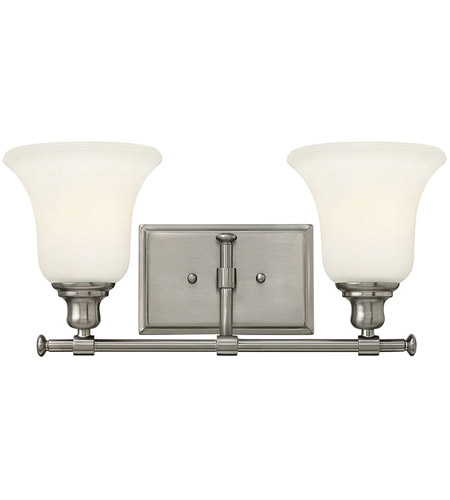 Hinkley 58782BN Colette 2 Light 17 inch Brushed Nickel Bath Light Wall Light, White Etched Glass photo