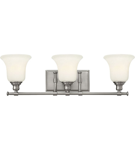 Hinkley 58783BN Colette 3 Light 26 inch Brushed Nickel Bath Wall Light, White Etched Glass photo