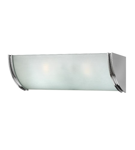 Hinkley lighting zara 2 light bath vanity in chrome 5882cm for Hinkley bathroom vanity lighting
