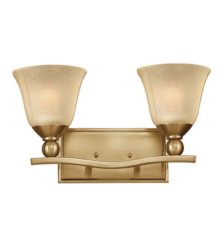 Hinkley lighting bolla 2 light bath vanity in brushed - Brushed bronze bathroom light fixtures ...