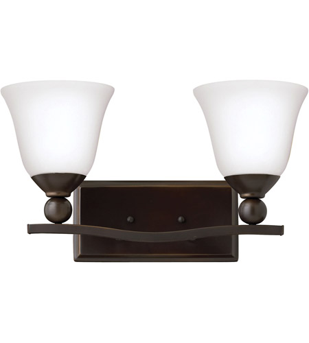 Hinkley Lighting Bolla 2 Light Bath in Olde Bronze 5892OB-OPAL